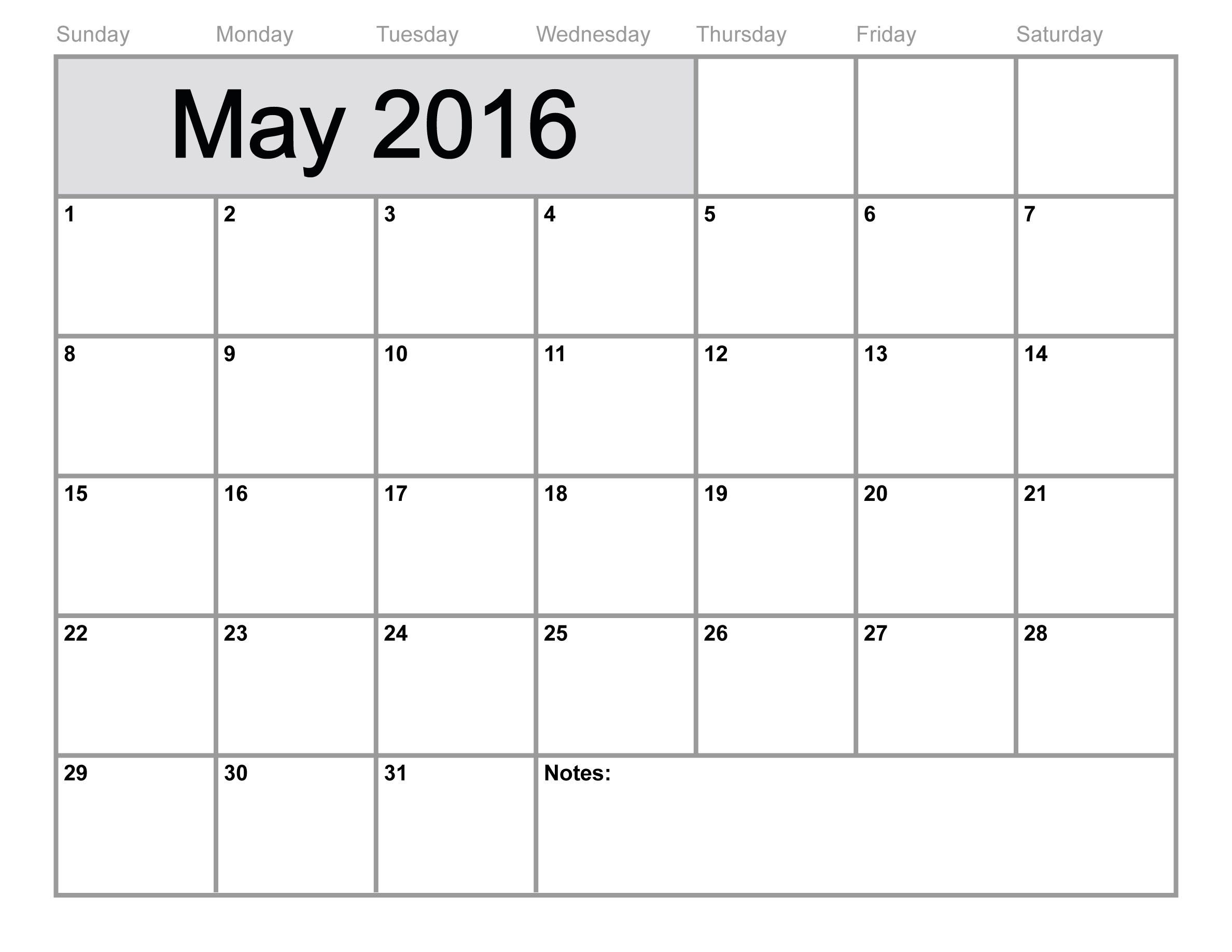 May Calendar Printable Free Blank Calendar 4