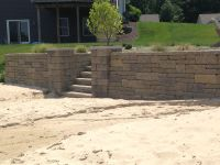 Retaining wall on lakefront property #pinmydreambackyard