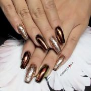 bronze nails cherry spa