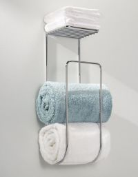 Bathroom Towel Rack Shelf Organizer Wall Mounted Holder