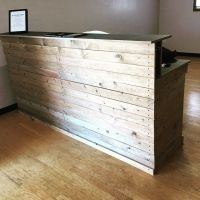 diy reception desk  Roselawnlutheran