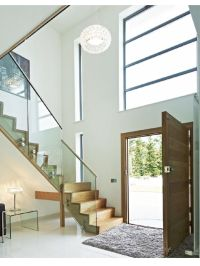 Double height, light entrance | Hall and Stairs ...