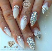luminous nails wedding nails. bling bling