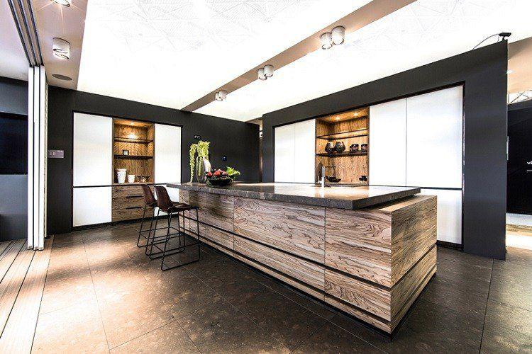 Idees De Cuisine Moderne Avec Ilot Bar Ou Table A Manger
