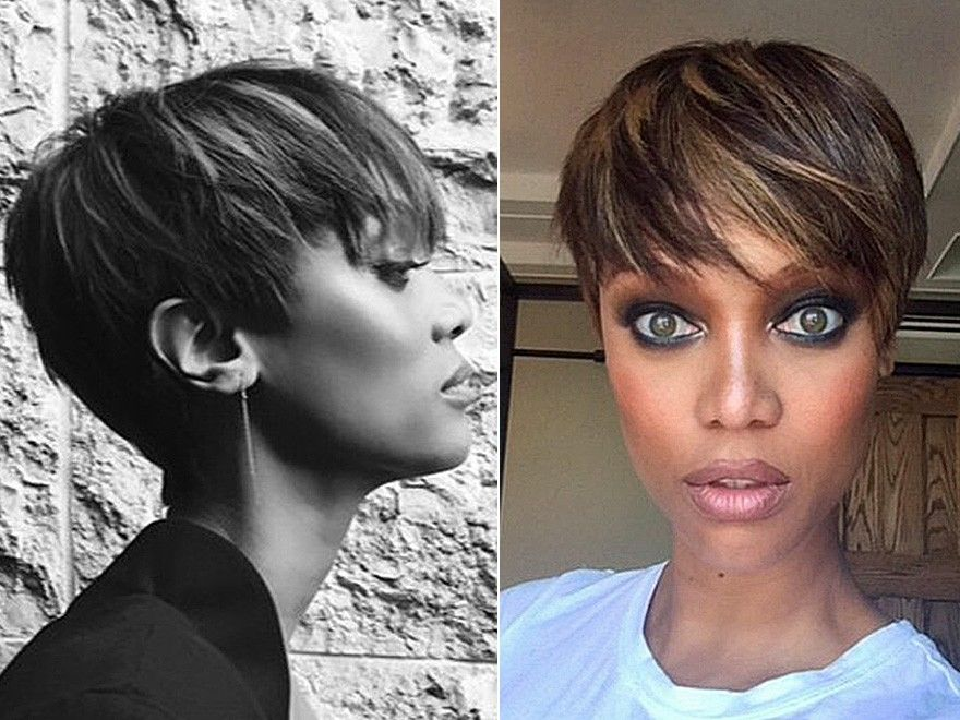 Tyra Banks Short Hair Pixie Hair We Go Again Pinterest