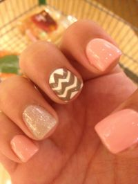 Sparkly Summer Nails With Chevron Design | Summer Nails ...