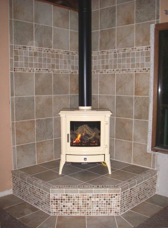 Tiled Wood Stove Hearth In The Preview At Least On My