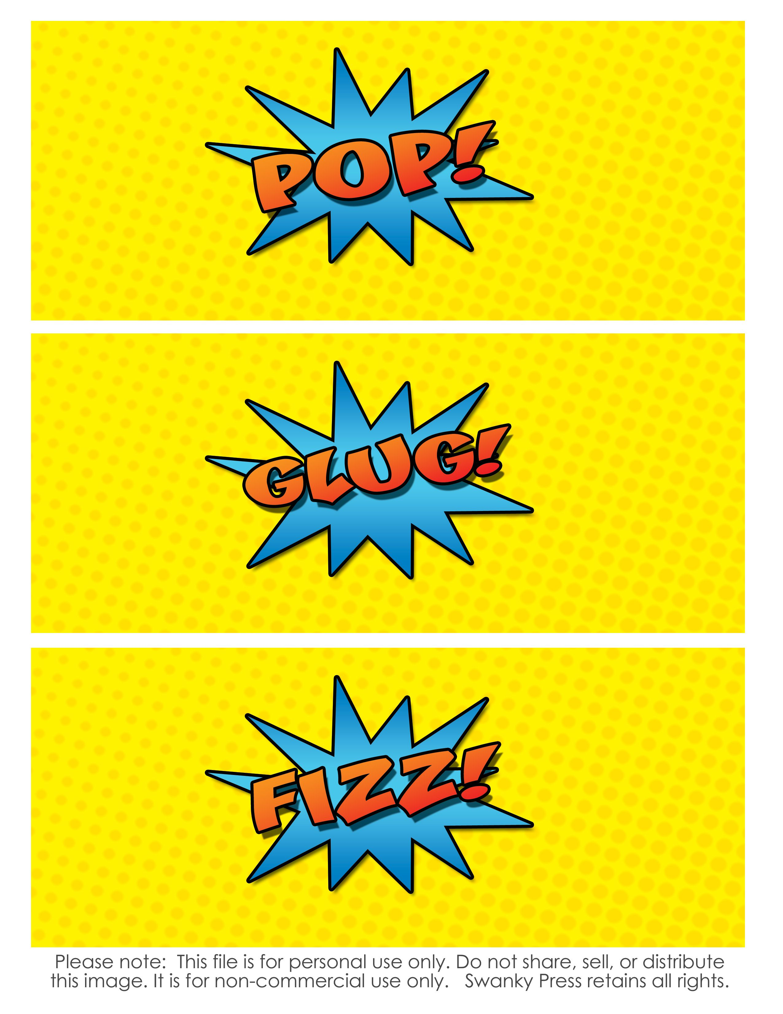 Free Superhero Printables
