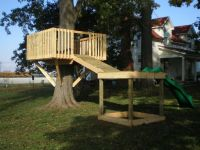 Treehouse Plans With A Slide
