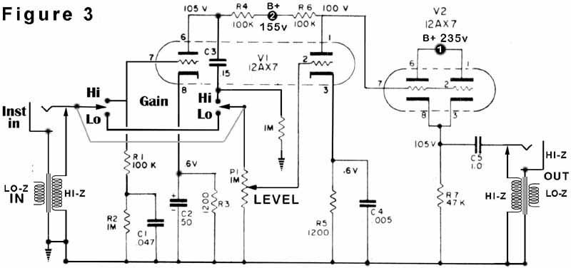 low noise balanced microphone preamp electronic design
