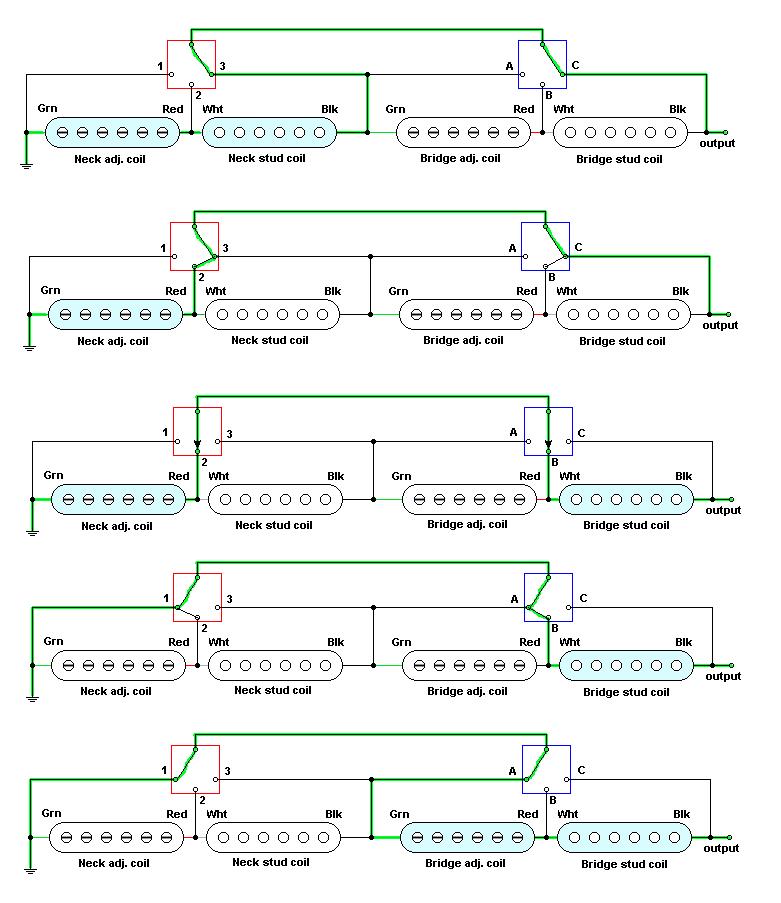 5 Way Super Switch Schematic Google Search Guitar Wiring