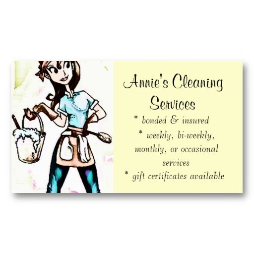 Cleaning Services Lady Business Card Business Cards Pinterest