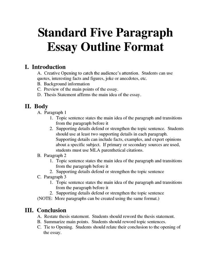 Writing A 5 Paragraph Essay Outline Google Search Classes