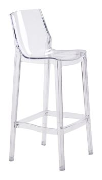 Set of Two Clear Acrylic Phantom Bar Stool