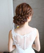 beautiful loose curl updo hairstyle