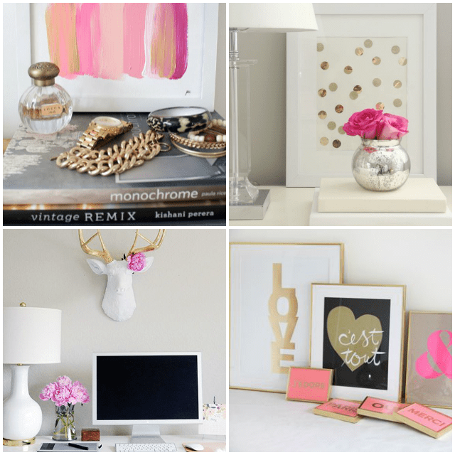 Pink And Gold Bedroom Office Inspiration Www Thesouthernthing Com