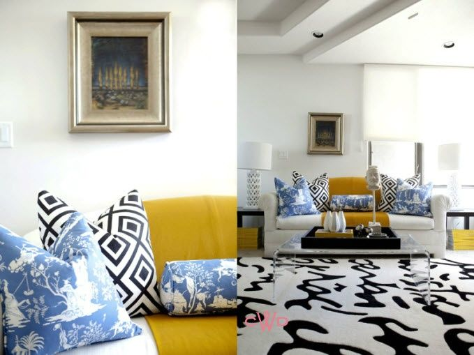 Blue and yellow living room found on marcusdesignincspot also rh pinterest