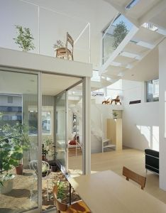 Boxy on the outside but extremely open inside this small family house has bedrooms in sq ft  love also blog de decoracion diseno interiores ideas decorativas rh za pinterest