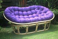 Purple Papasan Cushions