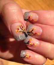 girly diy silver glitter nails
