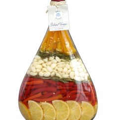 Decorative Glass Jars For Kitchen Cabinets With Crown Molding Lute Decorated Vinegar Bottle Love These Infusions