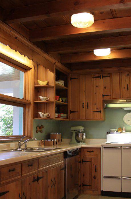 Knotty Pine Kitchen on Pinterest  Knotty Pine Rooms