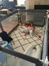 The ultimate playpen / play yard/ baby gate / living room ...