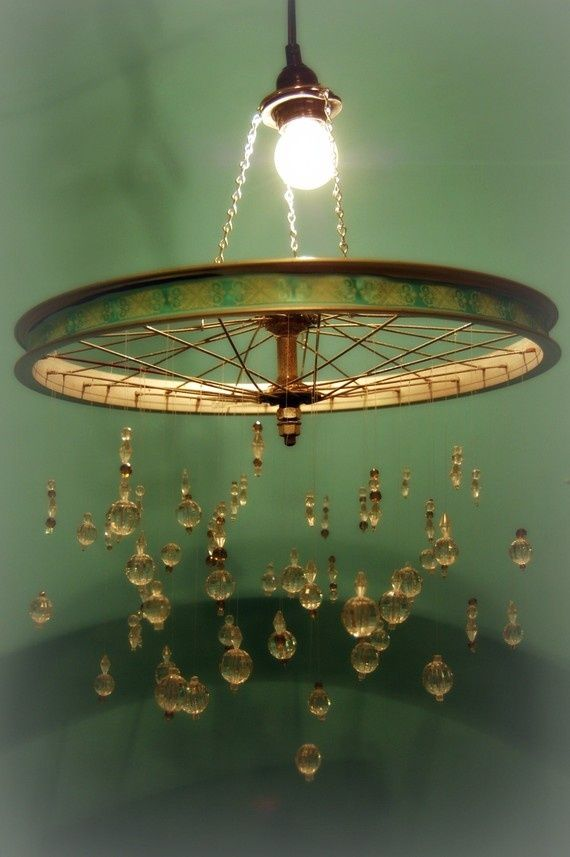 10 Must See Upcycled Chandeliers From Bikes