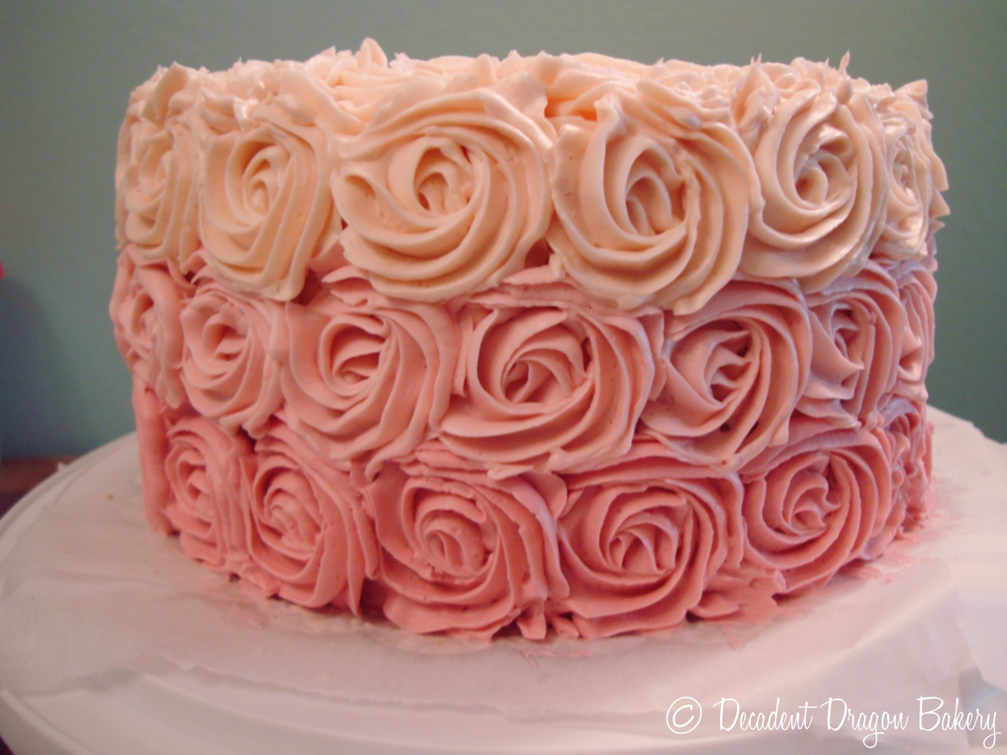Lychee Ombre Rose Cake