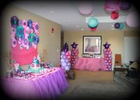 Pink purple turquoise, It's a girl Baby Shower Party Ideas ...