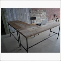 L Shaped Reclaimed Wood Desk | Modern Office Furniture ...