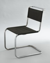 Chair (model B33), Marcel Breuer, 1927-28. Chrome-plated ...