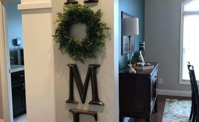 Home Decor Letter Decor H O M E Use A Wreath As The O