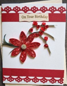 Quilled birthday card also ina   creation pinterest cards rh