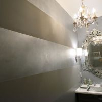 Horizontal wide metallic stripes with Pearl Metallic Paint ...