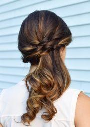 side swept ponytail updo cherry