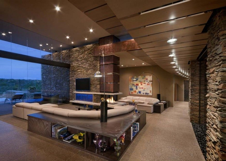 Interior Stone Accent Wall Office Space Google Search Office