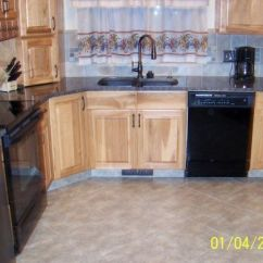 36 Inch Kitchen Cabinets Narrow Table Hickory And Granite Remodel With Semi Custom