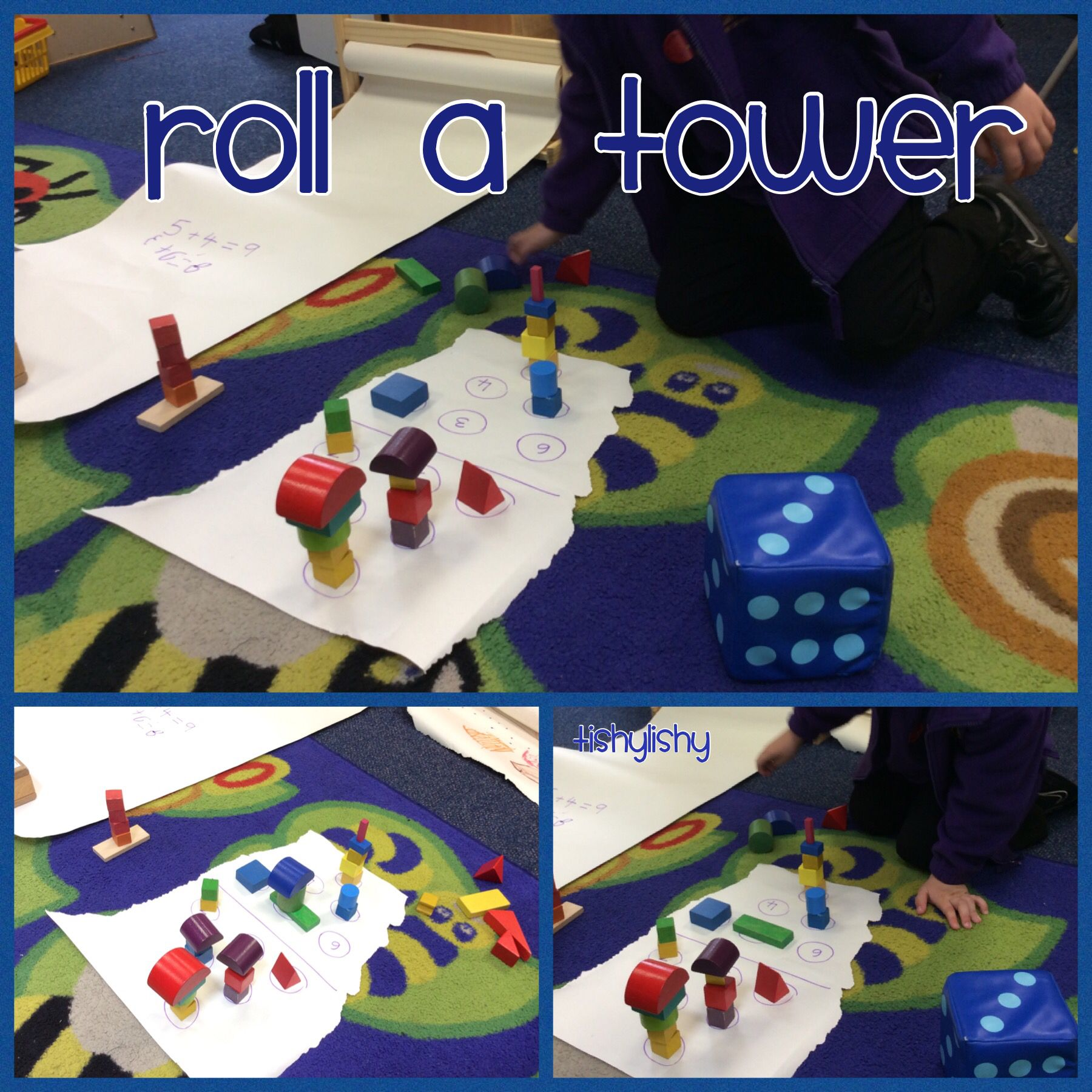 Roll The Dice And Build The Tower Eyfs Maths Counting And