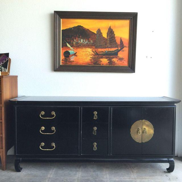 Kent Coffey Dresser Asian Style Furniture Long Dresser Mid