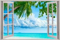 beach wall murals window scenes