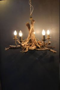 Driftwood chandelier, Driftwood Branch light Fitting, Five ...