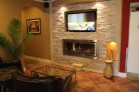 Gas Fireplace with TV Above | Recessed TV over gas ...