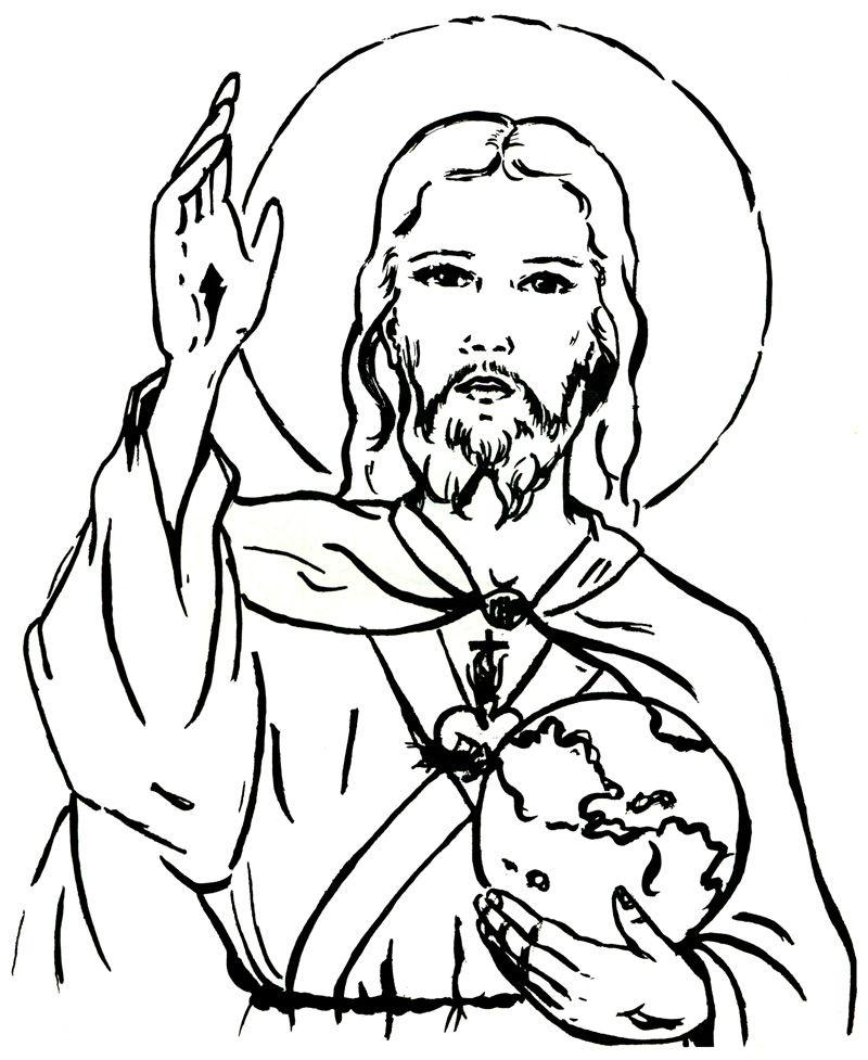 Christ our King and Savior Catholic Coloring Page