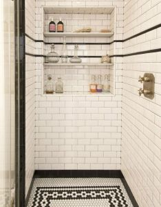 house with cool design also white subway tiles and built ins rh in pinterest