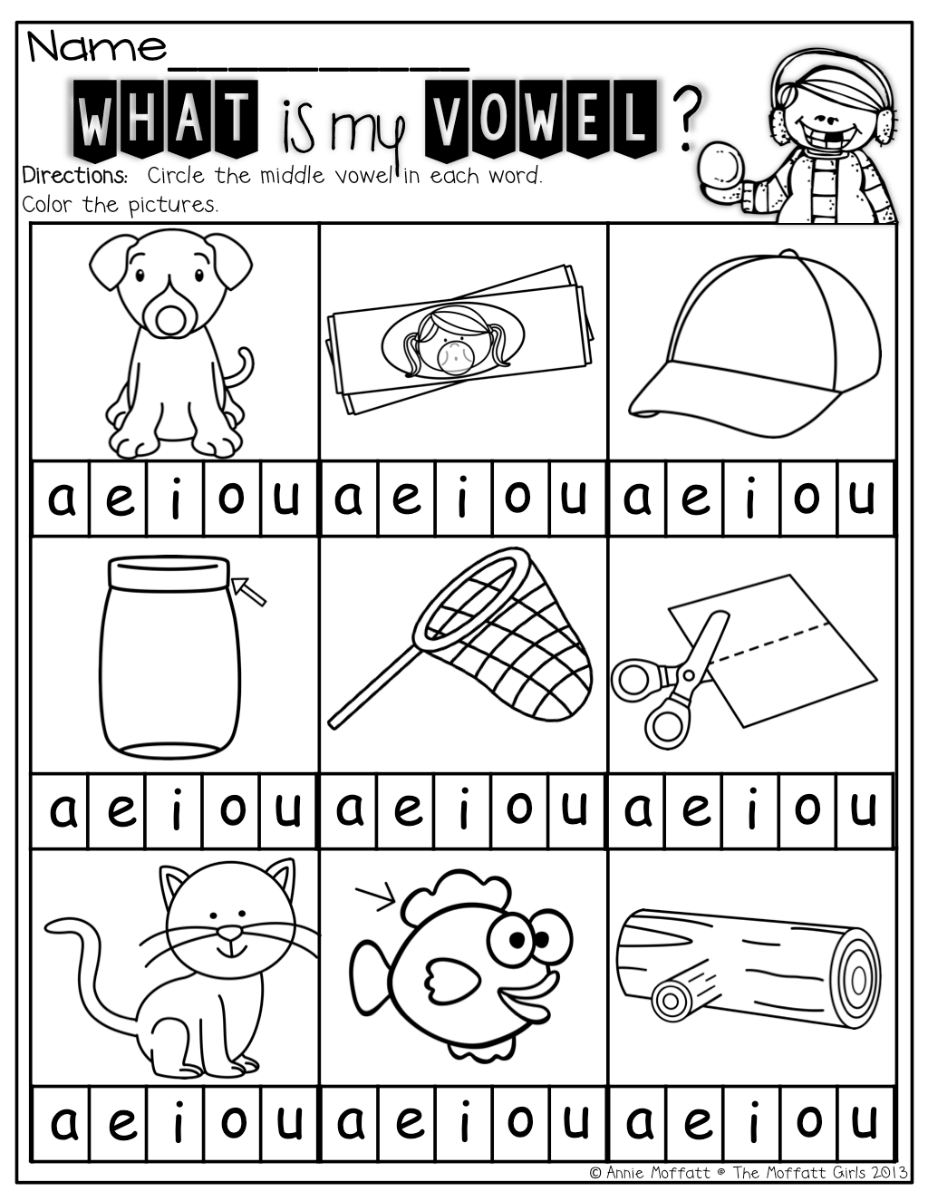 Middle Vowels A Great Way For Kids To Isolate Sounds And
