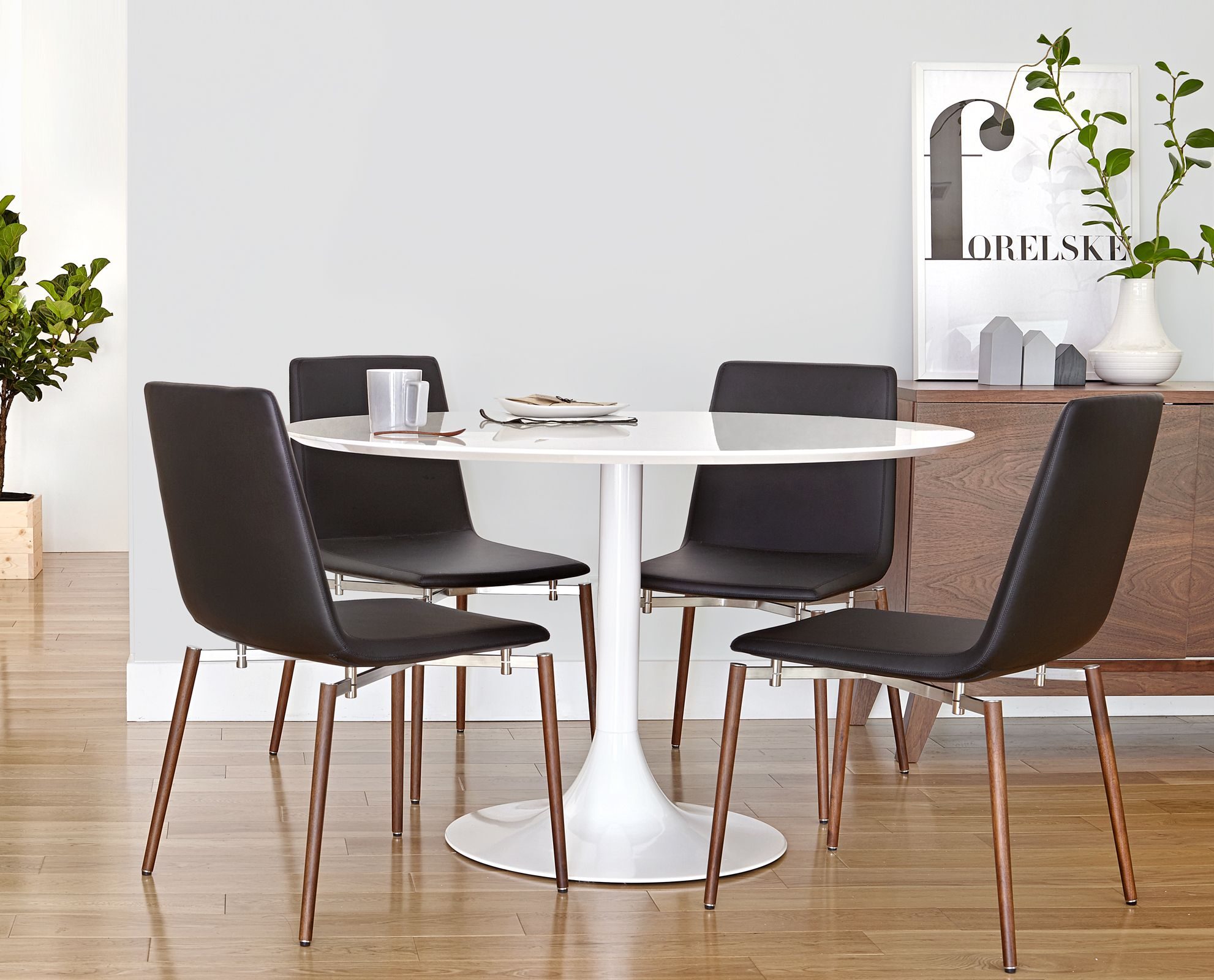 Dania Chairs Corona Dining Table And Neura Dining Chair From Dania
