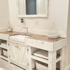 Farmhouse Kitchen Sink Table And Chairs Set Cottage Bathroom Vanity