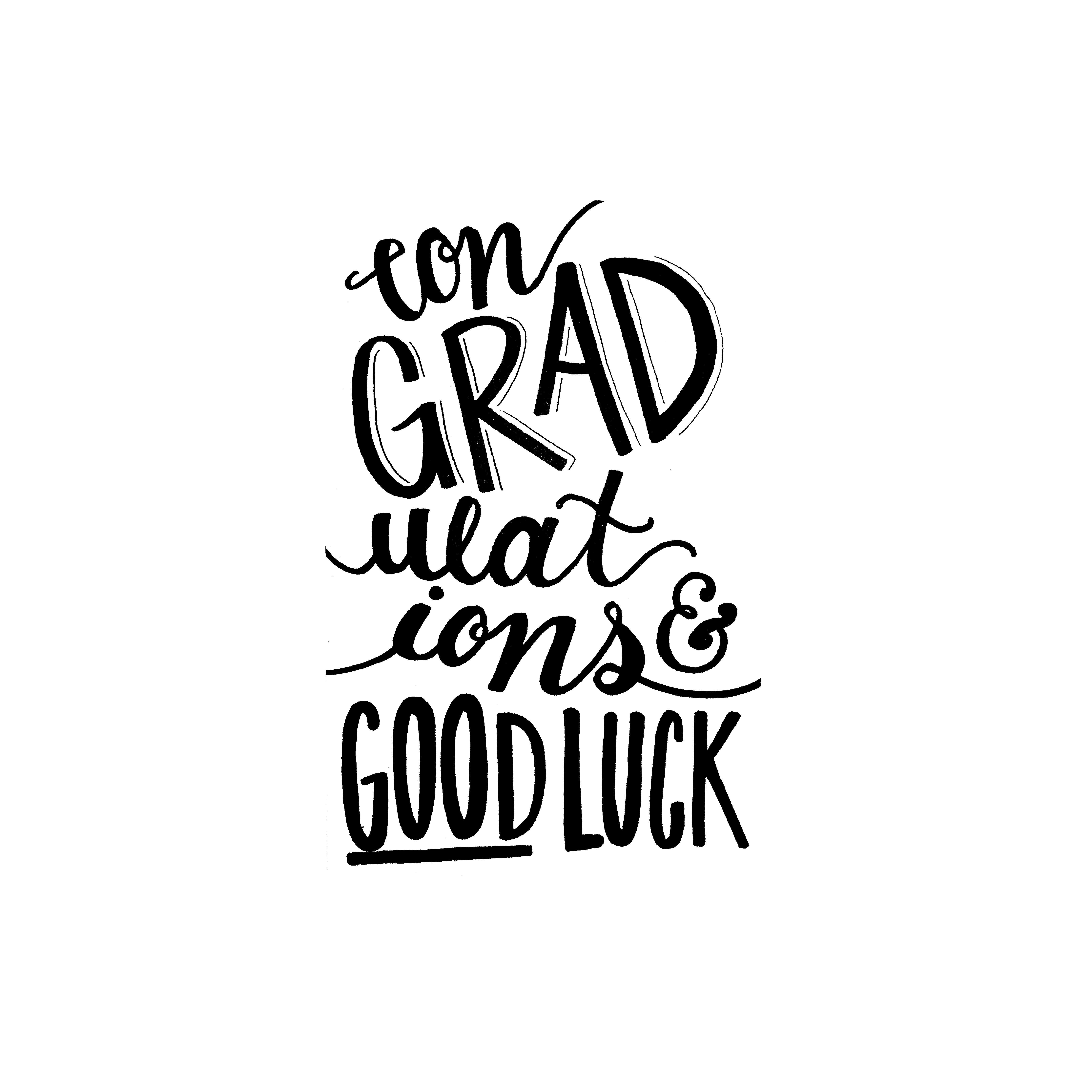 Hand Type Graduation Card Idea congratulations www