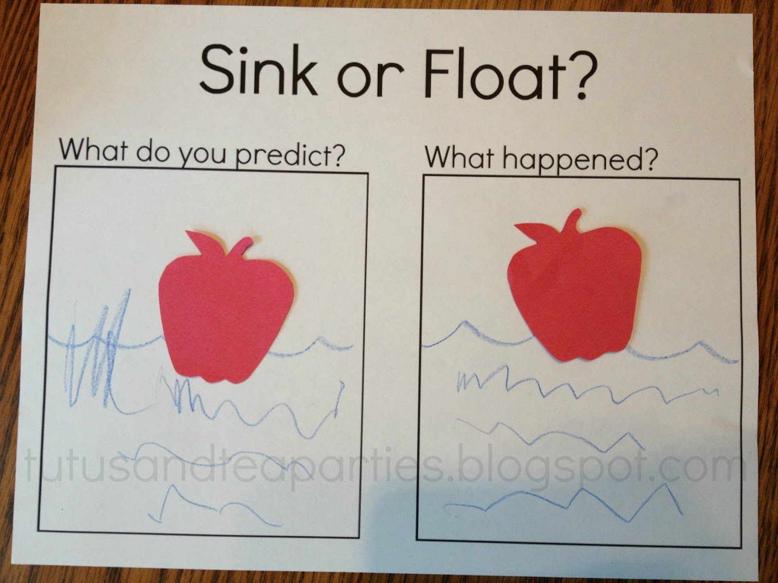 Fall Apples Sink Or Float With Free Printable